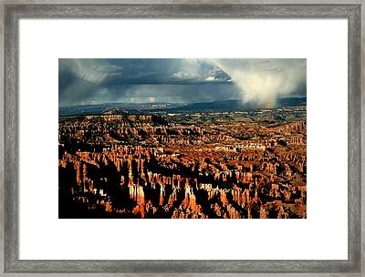 Summer Storm At Bryce Canyon National Park Framed Print by Jetson Nguyen