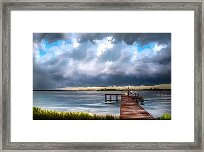 Summer Storm Blues Framed Print by Karen Wiles