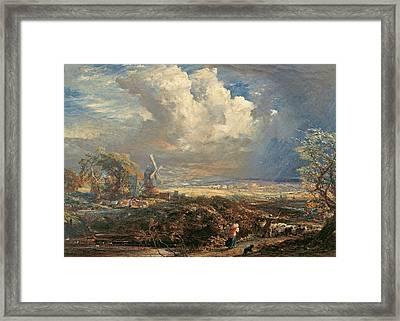 Summer Storm Near Pulborough, Sussex Framed Print by Samuel Palmer
