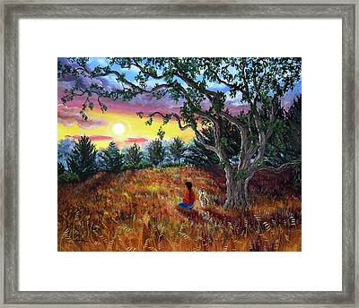 Summer Sunset Meditation Framed Print by Laura Iverson
