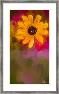 Summer Sunshine - Painting 2 By Fleblanc Framed Print by F Leblanc