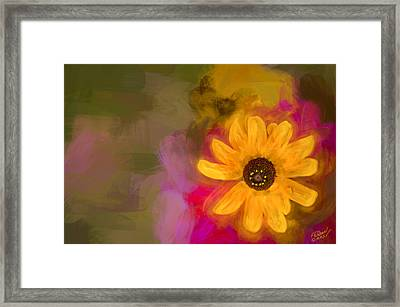 Summer Sunshine - Painting By Fleblanc Framed Print by F Leblanc