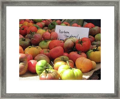 Summers Bounty Framed Print by Karen Johnston