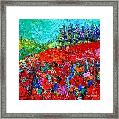 Summerscape Framed Print by Mona Edulesco