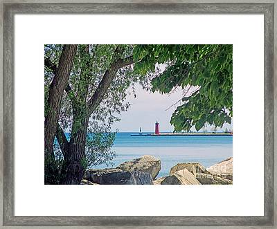 Summertime Along Lake Michigan Framed Print by Kay Novy