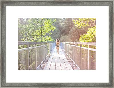 Summertime Framed Print by Jane Hu