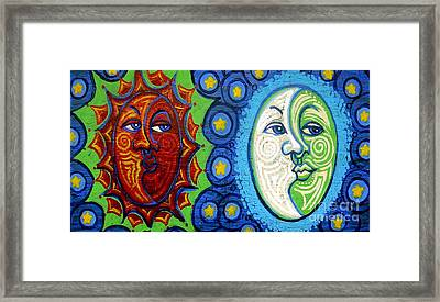 Sun And Moon Framed Print by Genevieve Esson
