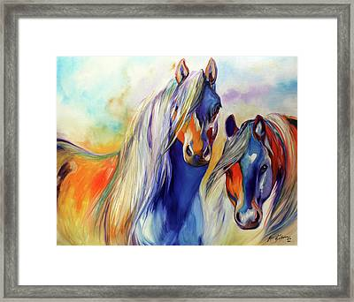 Sun And Shadow Equine Abstract Framed Print by Marcia Baldwin
