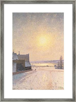 Sun And Snow Framed Print by Per Ekstrom