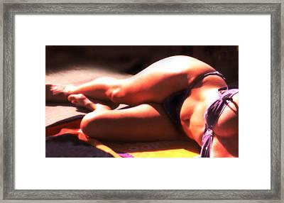 Sun Bather Framed Print by Harvie Brown