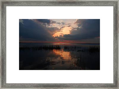 Sun Behind The Clouds Framed Print by Susanne Van Hulst