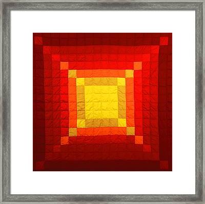 Sun Burst Framed Print by Mildred Thibodeaux