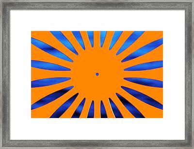 Sun Burst Framed Print by Todd Klassy