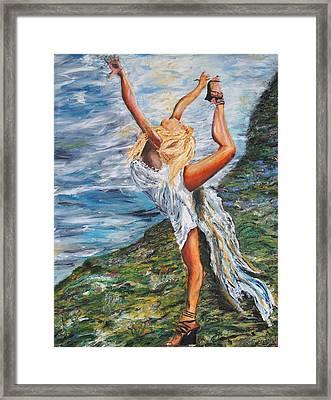 Sun Dancer Nastia Framed Print by Gregory Allen Page