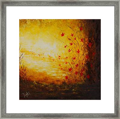 Sun Drenched Framed Print by Debra Houston