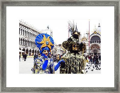 Sun Face 2015 Carnevale Di Venezia Italia Framed Print by Sally Rockefeller