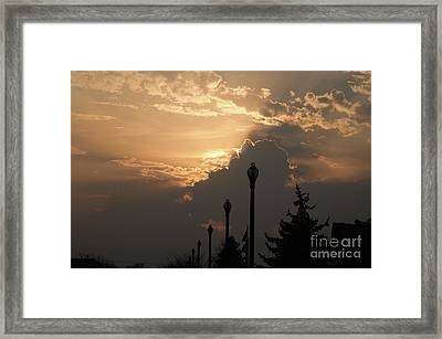 Sun In A Cloud Of Glory Framed Print by Andee Design