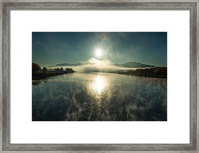 Sun O'er Missouri River Framed Print by Todd Klassy