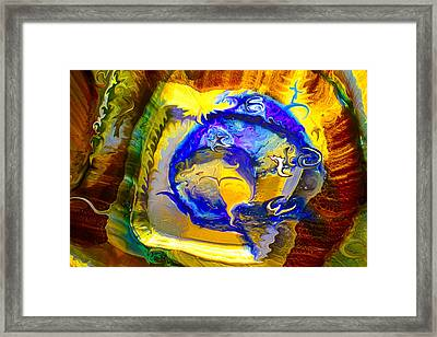 Sun Of A Moon Framed Print by Omaste Witkowski