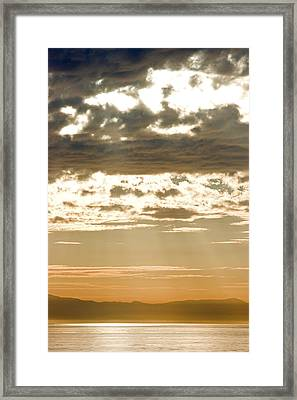 Sun Rays And Clouds Over Santa Cruz Framed Print by Rich Reid