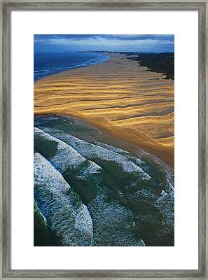 Sun Rise Coast  Framed Print by Skip Hunt
