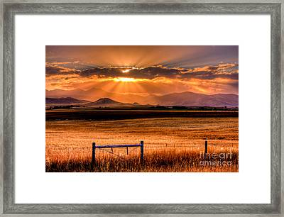 Sun Sets On Summer Framed Print by Katie LaSalle-Lowery