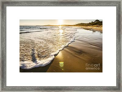 Sun Surf And Waves Framed Print by Jorgo Photography - Wall Art Gallery