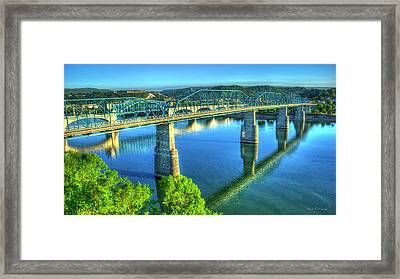 Sun Up Reflections Chattanooga Tennessee Framed Print by Reid Callaway