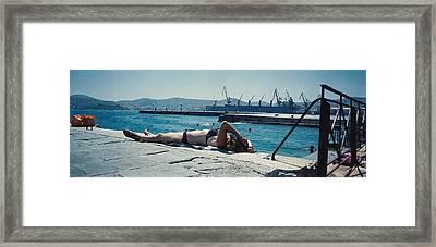 Sunbath Framed Print by Edoardo Rebecchi