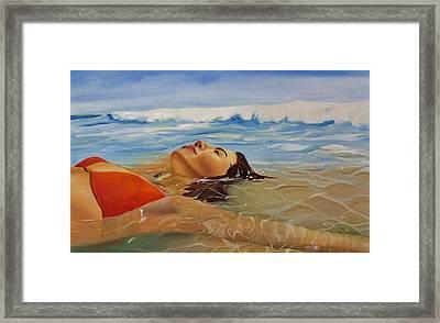 Sunbather Framed Print by Crimson Shults