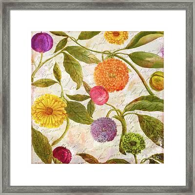 Sunbathers Botanical I Framed Print by Mindy Sommers