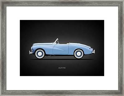 Sunbeam Alpine Sport 1953 Framed Print by Mark Rogan