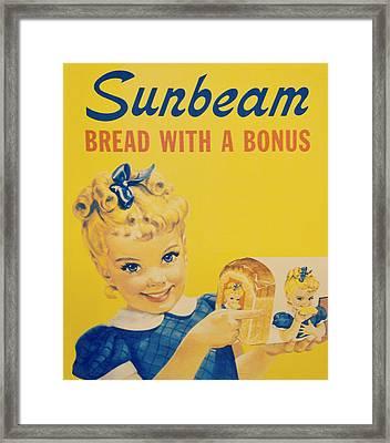 Sunbeam Girl Framed Print by Robin Dickinson