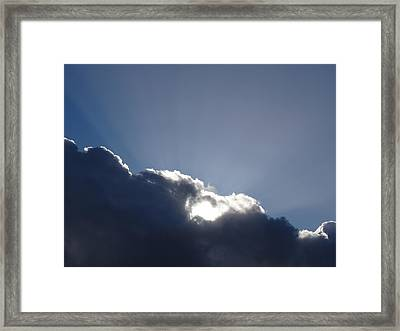 Sunburst Framed Print by Karen Jane Jones