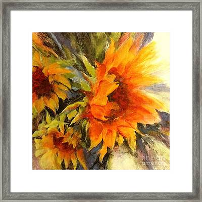 Sunburst Framed Print by Madeleine Holzberg