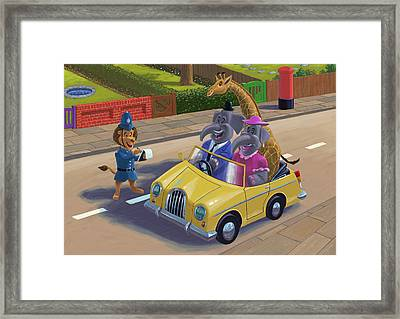 Sunday Afternoon Drive Framed Print by Martin Davey