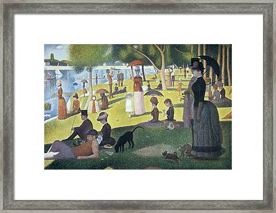 Sunday Afternoon On The Island Of La Grande Jatte Framed Print by Georges Seurat