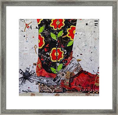 Sunday Boots Framed Print by Suzy Pal Powell