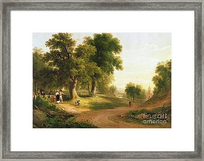 Sunday Morning Framed Print by Asher Brown Durand