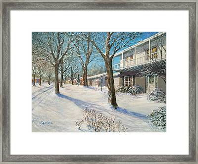 Sunday Morning Snow Framed Print by Edward Farber