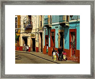 Sunday Morning Stroll Framed Print by Mexicolors Art Photography