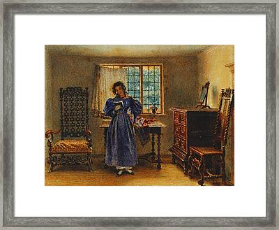 Sunday Morning Framed Print by William Henry Hunt