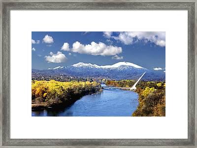 Sundial Bridge Framed Print by Gene Knaebel