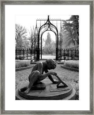 Sundial Framed Print by Jane Linders