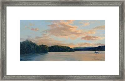 Sundown At Garrison Landing Framed Print by Phyllis Tarlow