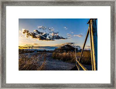 Sundown At The Mill Framed Print by Bryan Moore