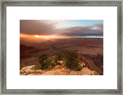 Sundown On The South Rim Framed Print by Mike Buchheit