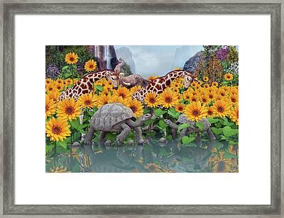 Sunflower Daydream II Framed Print by Betsy C Knapp