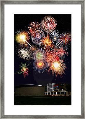 Sunflower Fireworks At The Van Gogh Museum Framed Print by Jose A Gonzalez Jr