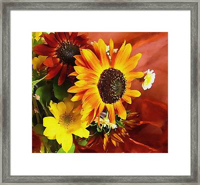 Sunflower Strong Framed Print by Kathy Bassett